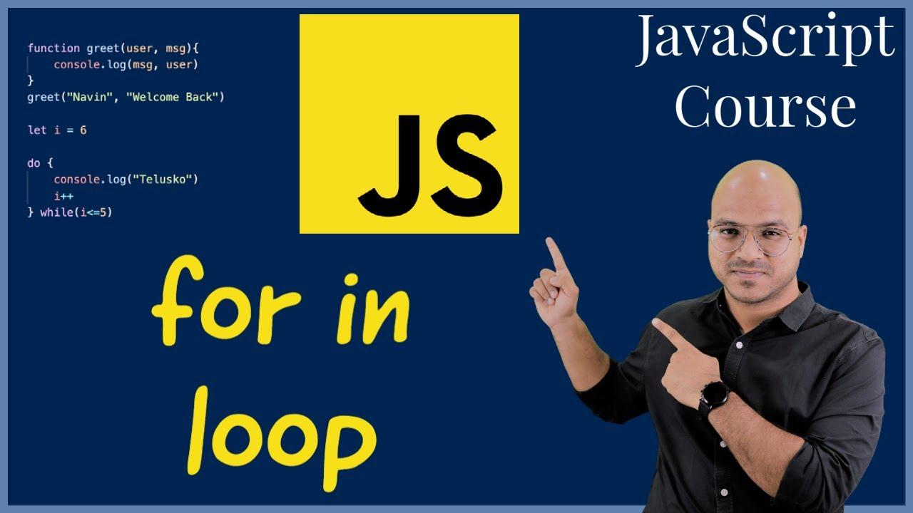 #21 For in loop in JavaScript