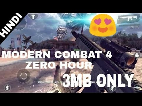 HIGHLY COMPRESSED ONLY 3 MB || Modern Combat 4 Zero Hour || Free On Any Android Device||Download Now