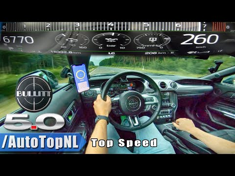 Ford Mustang Bullitt Goes For A Top Speed Run On The Autobahn