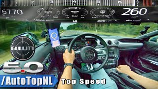 FORD MUSTANG BULLITT 260km/h AUTOBAHN TOP SPEED by AutoTopNL