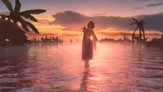 Yuna's dance for the dead whilst walking on water in final fantasy x