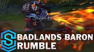 Badlands Baron Rumble Skin Spotlight - Pre-Release - League of Legends thumbnail