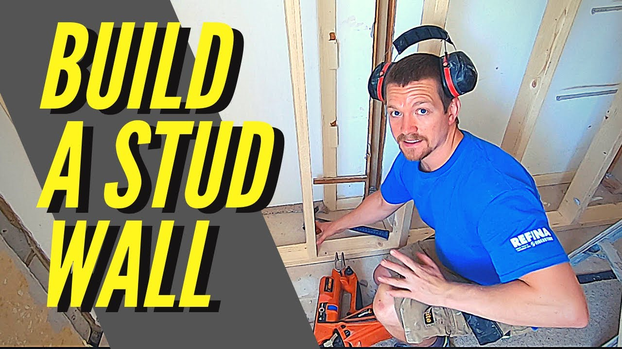 How To Build A Stud Wall - (Build An Internal Wall For Plastering)