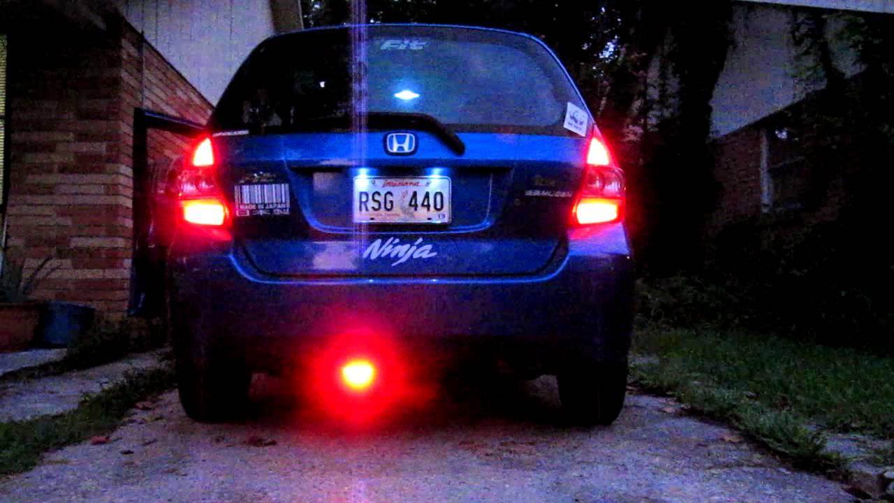 Led Lights For Cars >> F1 led brake light on Honda FIT - YouTube