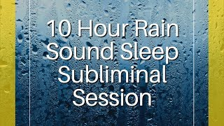 Confidence, Happiness & Motivation - (10 Hour) Rain Sound - Sleep Subliminal - By Thomas Hall