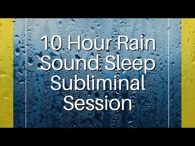Confidence, Happiness & Motivation - (10 Hour) Rain Sound - Sleep Subliminal - By Thomas Hall