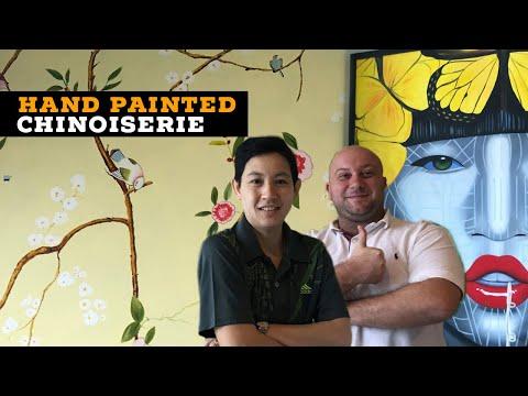 Hand Painted Chinoiserie