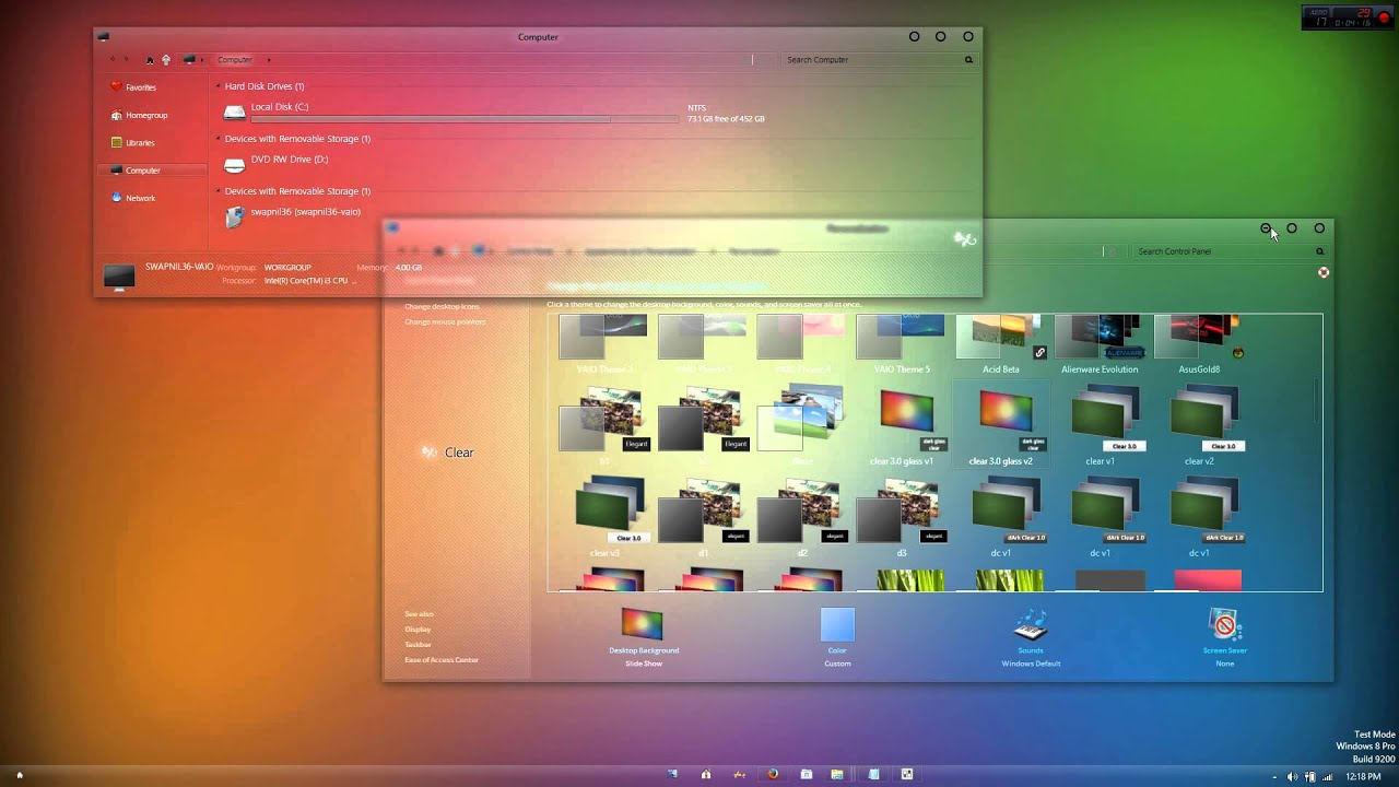 Full Glass Transparent Theme Windows