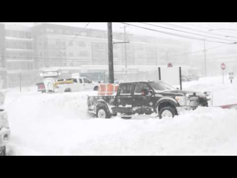 Snow Storm 2016: Rockville Pike, Maryland - 23 January | Combing USA