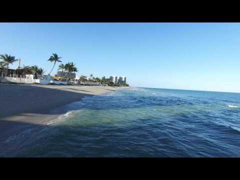 Fort Lauderdale Beach/Pelican Grand Aerial Drone Footage