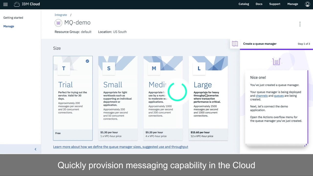IBM MQ service on IBM Cloud