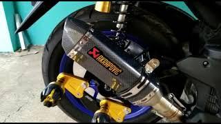 Yamaha Aerox Dengan Knalpot Racing Akrapovic