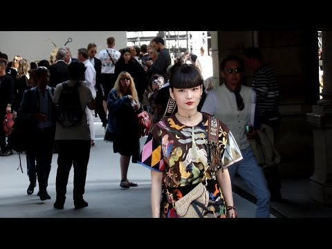 Akimoto Kozue 秋元 梢 - Dior Homme fashion show in Paris - June 23rd 2018