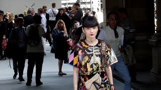 The japanese model Akimoto Kozue 秋元 梢 attending the Dior Homme f...
