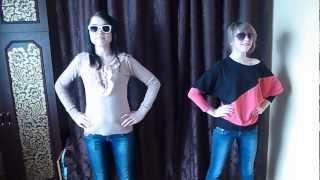 Две девчонки косят под клип PSY - GANGNAM STYLE