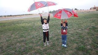 زياد والياس يبي يطيرون بالمظلة !
