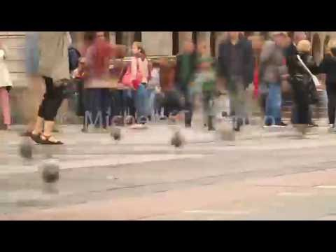 0039 - time lapse - Feet of people walking in Milan pan