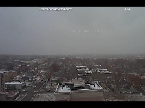 LIVE Kansas City Country Club Plaza Ice Storm - 1/13/2017