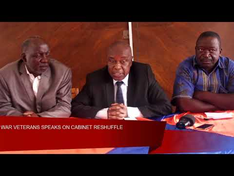 War Vets speaks on Cabinet reshuflle