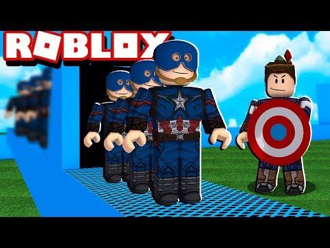 FÁBRICA DO CAPITÃO AMÉRICA NO ROBLOX!! (Super Hero Tycoon)