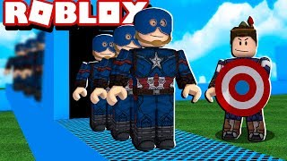 CAPTAIN AMERICA'S FACTORY IN ROBLOX!! (Super Hero Tycoon)