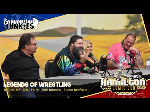 WWE Wrestling Legends Ted DiBiase, Mick Foley, Terri Runnels & Brutus Beefcake At Hamilton Comic Con