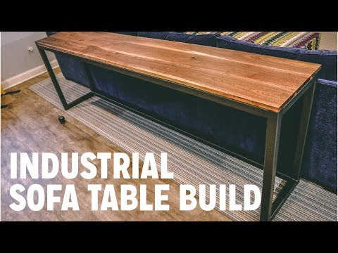 Industrial Sofa Table Build  | Easy Metal Working Project