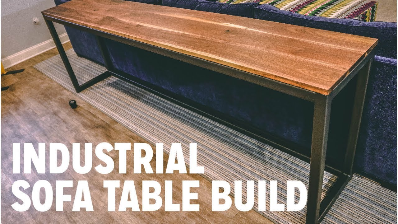 Industrial Sofa Table Build Easy Metal Working Project Youtube