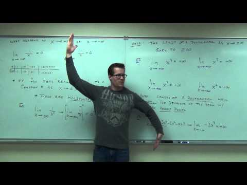 Calculus 1 Lecture 3.5:  Limits of Functions at Infinity