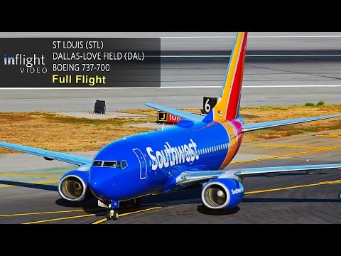 Southwest Airlines Full Flight | St Louis to Dallas-Love Field | Boeing 737-700
