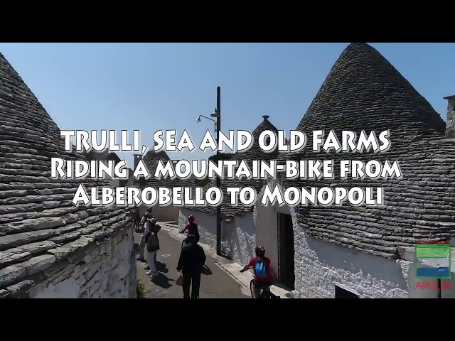 Riding a mountain bike from Alberobello to Monopoli