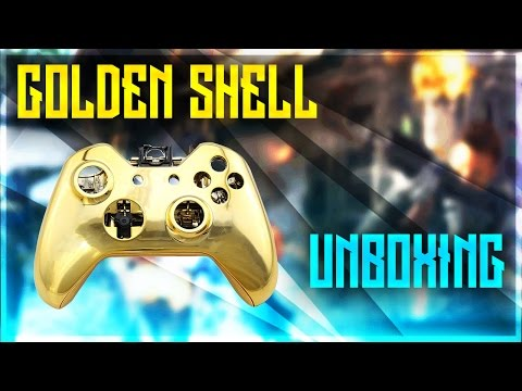 Xbox One Gold Super Custom Controller Shell Case Unboxing