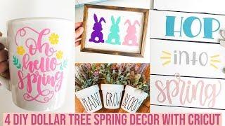 DIY DOLLAR TREE SPRING DECOR USING CRICUT