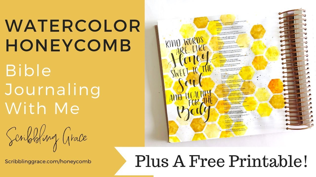 Honeycomb Bible Journaling- With Free Printable!