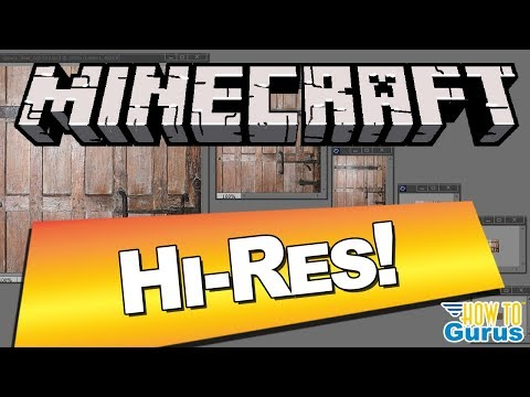 How To Make A Minecraft Hi Res Texture Pack 1.14 How High Should You Go?