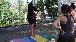 Trapeze classes at The Philadelphia School of Circus Arts in West Mt. Airy