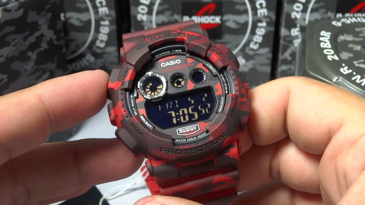 0d4330f4797 CASIO G-SHOCK REVIEW AND UNBOXING GD-120CM-4 RED BLACK CAMOUFLAGE SERIES -  YouTube