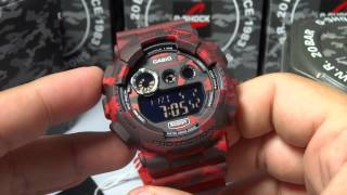 CASIO G-SHOCK REVIEW AND UNBOXING GD-120CM-4 RED/BLACK CAMOUFLAGE SERIES