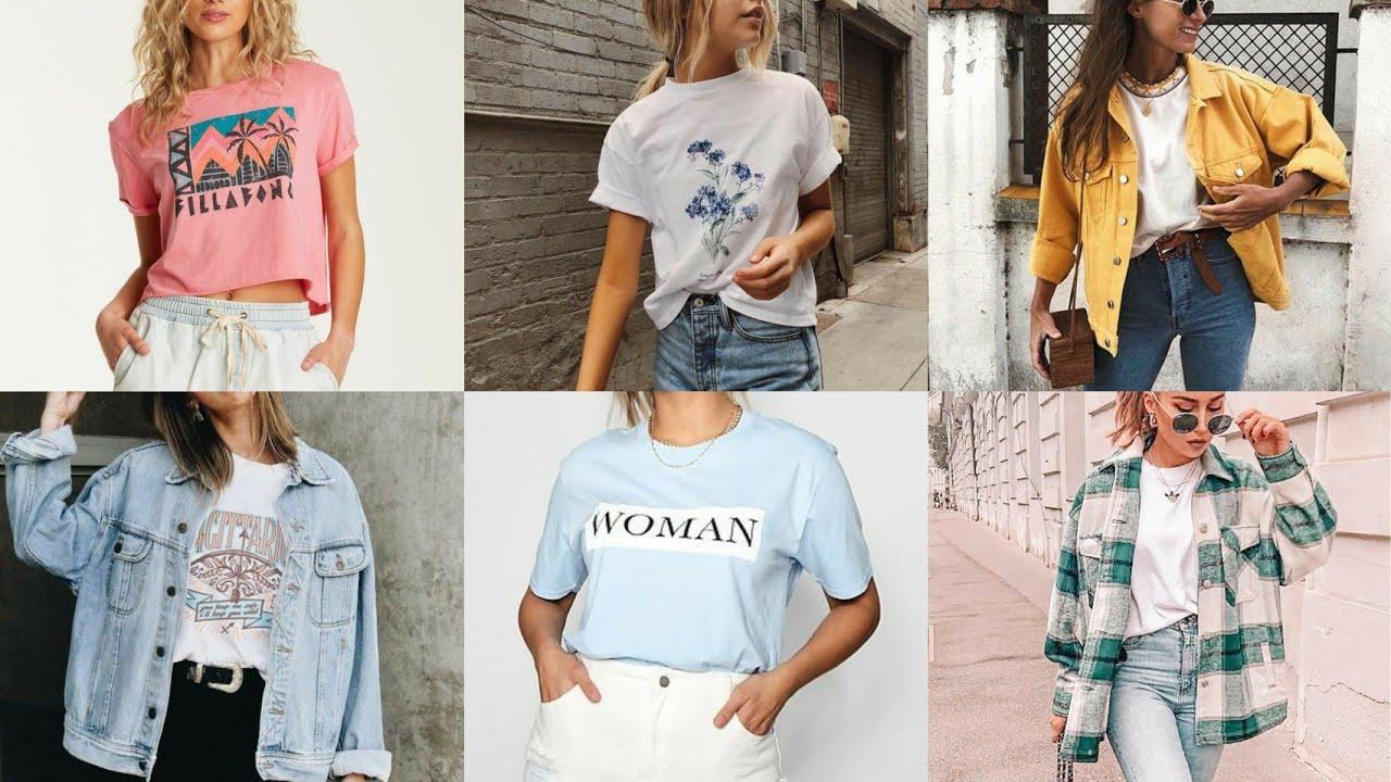 Stylish T-Shirt For Girls 2020 | Semple Long T Shirt | Long T Shirts For Women | Fancy Jeans T shirt