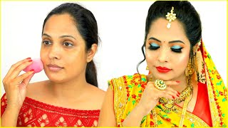 Dulhan Style Indian Makeup Step By Step Tutorial For Beginners | #ShrutiArjunAnand