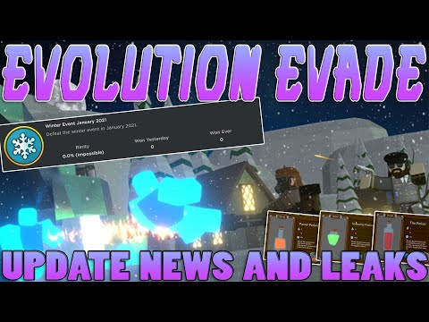 THE EVOLUTION EVADE WINTER EVENT IS COMING!! (News and Update Leaks) - ROBLOX