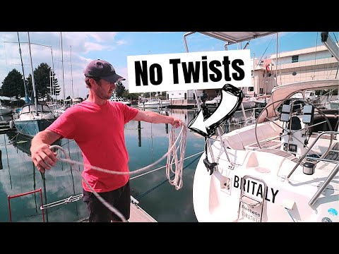 Coiling Lines - Is This Alternative Method Better? | ⛵ Sailing Britaly ⛵