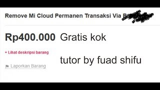 Tutorial Cara Unlock Logout Lupa Password Mi Akun Mi Cloud GRATIS !!! BUKAN BYPASS !!!