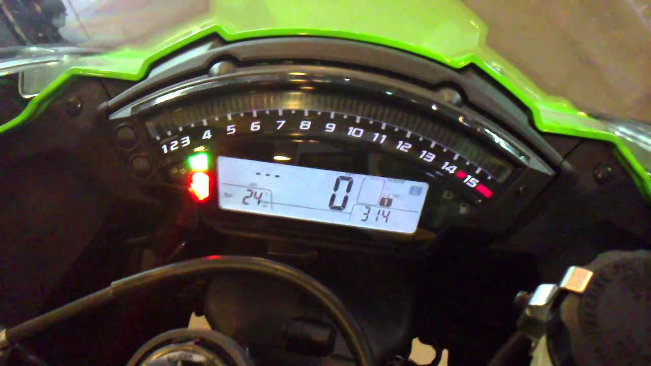 2011 ZX10R Meter Cluster - YouTube