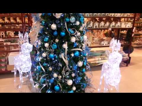 decoracion arboles de navidad 2017 azul y plata parte 17