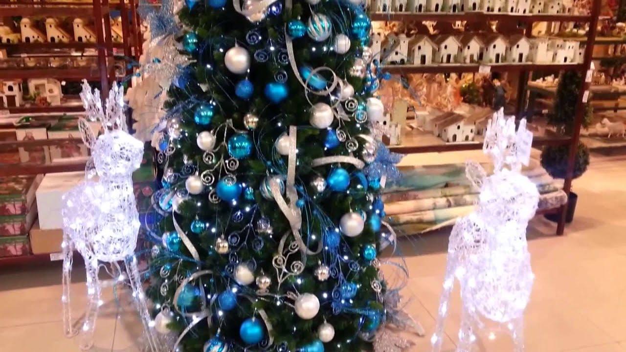 Decoracion arboles de navidad 2017 azul y plata parte 17 - Arbol de navidad adornos ...