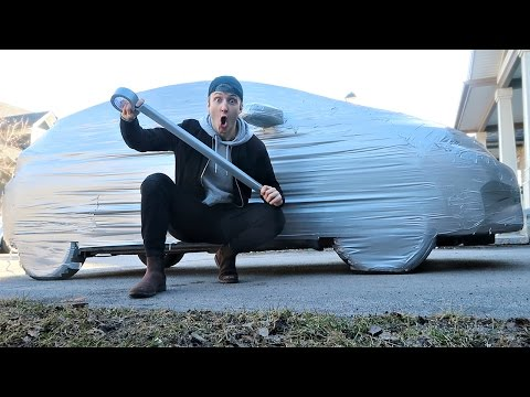 INSANE DUCT TAPE CAR PRANK! (200+ ROLLS)