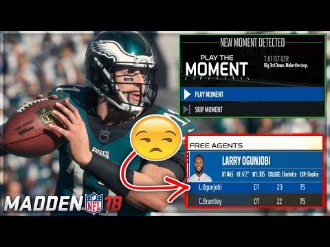 HOW DID HE GET CUT!? -- Preseason + Play The Moments Preview | Madden 18 Connected Franchise