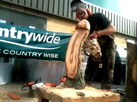 Oak Mushroom Chainsaw Carving Time Lapse Youtube