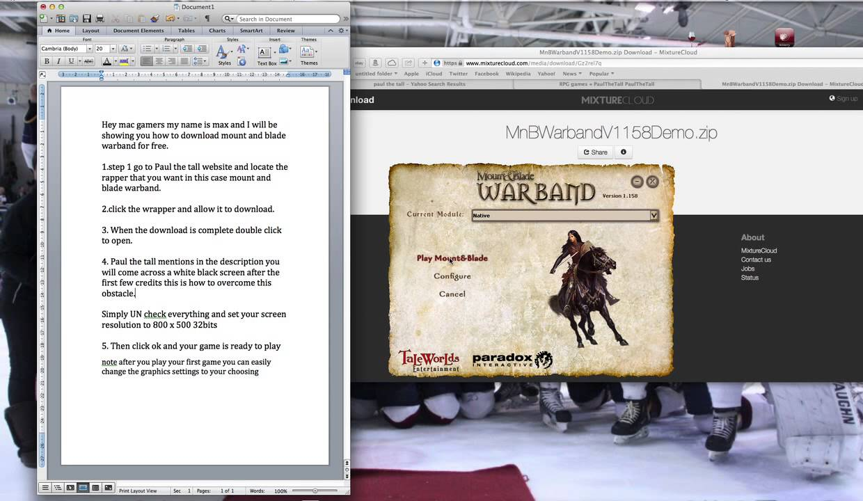 mount and blade mac tpb